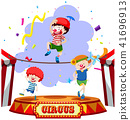 Children performing at the circus 41696913