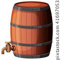 wine barrel vector 41697053