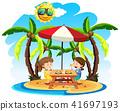 beach lunch vector 41697193