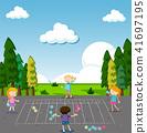 children, park, vector 41697195