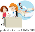 A Girl Taking Blood Test 41697209