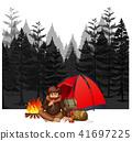 forest dark vector 41697225