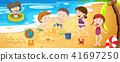 beach, vector, play 41697250