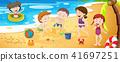 beach, vector, play 41697251