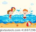 beach, girl, boy 41697296