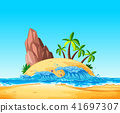 tropical, island, wave 41697307