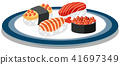 A Dish Full of Japanese Sushi 41697349