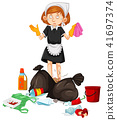 A Maid with Dirty Trash 41697374