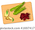 Differnt Vegetable on Chopping Board 41697417