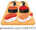A Set of Japanese Sushi 41697473
