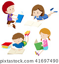 children, book, vector 41697490