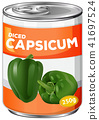A Can of Diced Capsicum 41697524