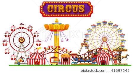 A Circus Fun Fair on White Background 41697543