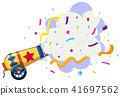 cannon exploding confetti background 41697562