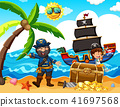 A Pirate and Happy Girl at Island 41697568