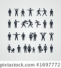 Collection of people silhouettes 41697772