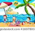 summer, beach, family 41697803