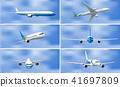 A Set of Airplane on Sky 41697809