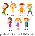 A Set of Young Children Expression 41697843