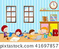 Children Studying in Classroom 41697857