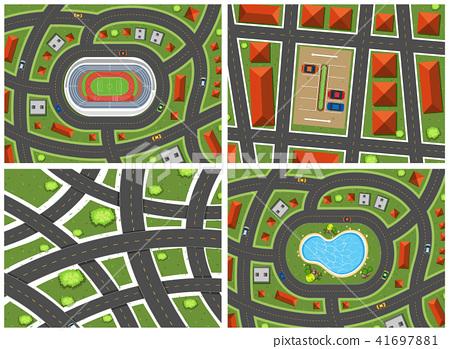A Set of Map Ariel View 41697881