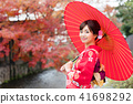 기모노를 입은 여성 41698292