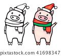 Vector  funny pigs. 41698347