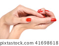 female, manicure, hand 41698618