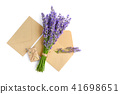 Fresh lavender flowers and envelopes 41698651