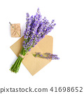 Fresh lavender flowers and envelope 41698652