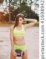 beautiful sporty girl 41698942