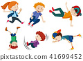 Street Dance Kids on White Background 41699452