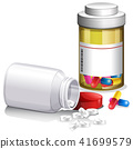 Containers of medical pills 41699579