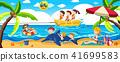 beach vector summer 41699583
