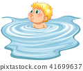 Young boy in a pool 41699637
