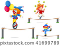 A Set of Circus Show on White Background 41699789