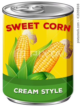 Can of cream style sweet corn 41699808