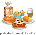 Set of breakfast food 41699817