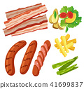 A Set of Healthy Food White Background 41699837