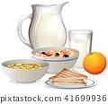 vector, breakfast, healthy 41699936