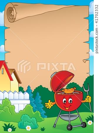 Barbeque theme parchment 3 41702332