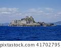 외양에서 볼 군함 섬 전경 41702795