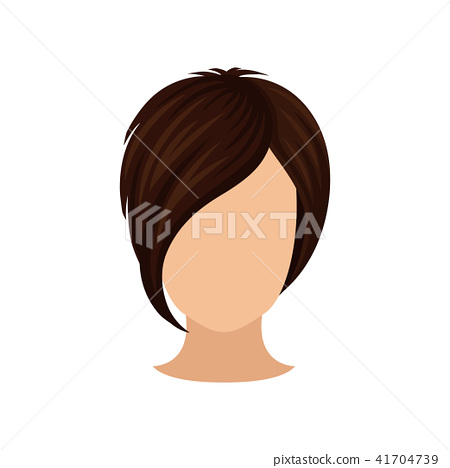 Different Faces Of Women With Hairstyles Stock Vector