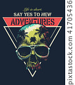 Vector Adventure graphic with a scary skull 41705436