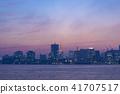 evening, scene, tokyo 41707517