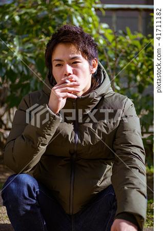 남자 일본인 흡연자 41711182
