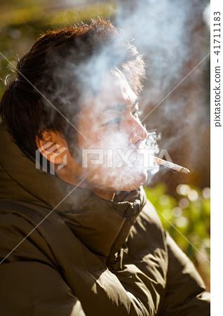 남자 일본인 흡연자 41711183