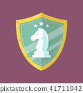 Knight Chess Emblem logo 41711942