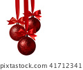 Christmas decoration with bows 41712341