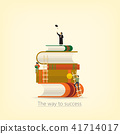 Back to school, Book concept the way to success. 41714017